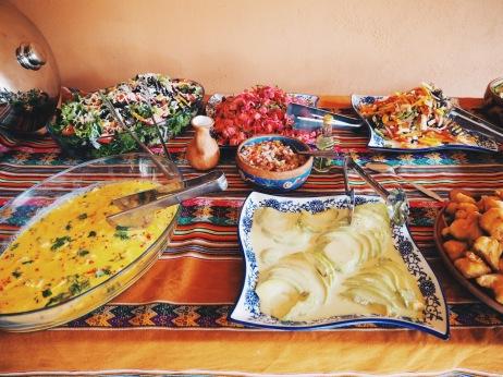 Peruvian ceviche and salads